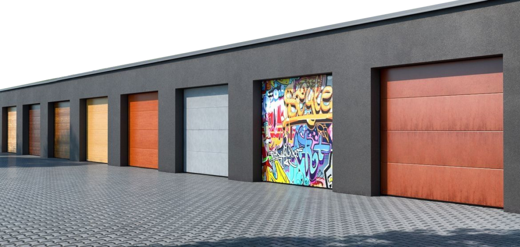 Aroja Xorfex digital printing on panels garage doors
